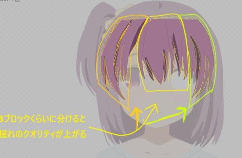 Live2D レイヤー作り方前髪