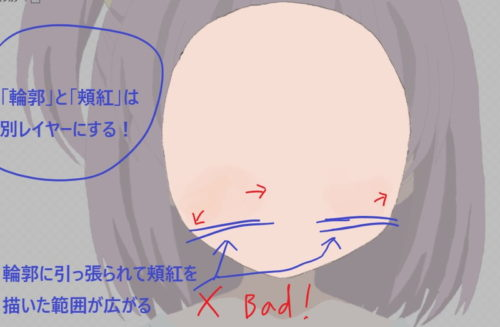 Live2D レイヤー作り方輪郭