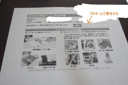 ネットオフ 買取 コミック 小説 商品送付書